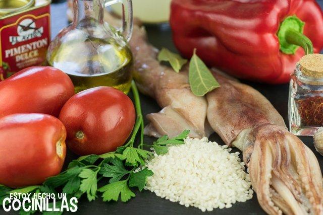 Arroz con calamares (ingredientes)