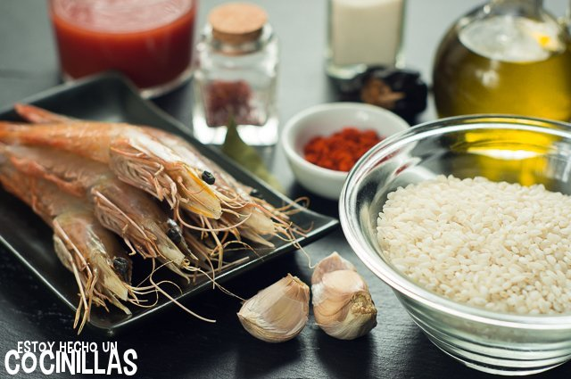 Arroz con gambas (ingredientes)