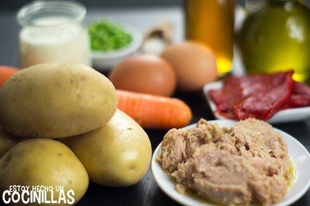 Ensaladilla rusa sin mayonesa (ingredientes)