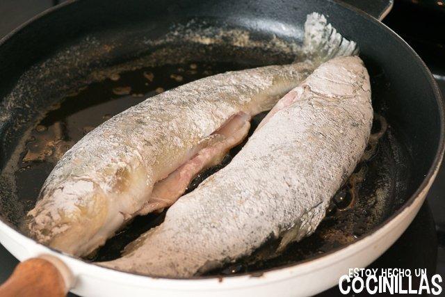 Trucha con almendras (dorar)