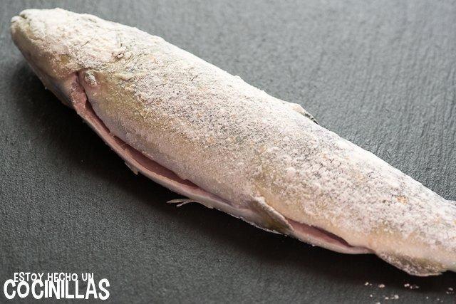 Trucha con almendras (enharinar)