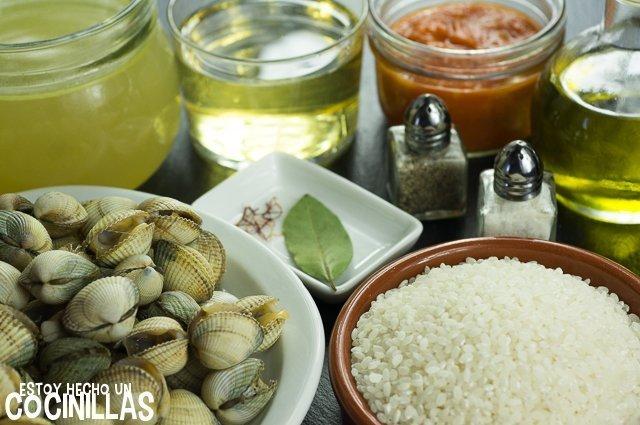 Arroz con berberechos (ingredientes)
