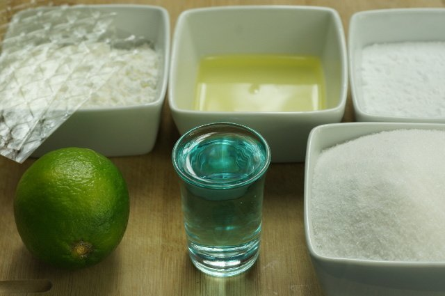 Nubes de gin tonic sin alcohol (ingredientes)