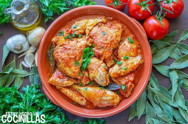 Receta de pollo con tomate