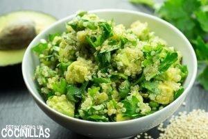 Tabulé de quinoa y aguacate