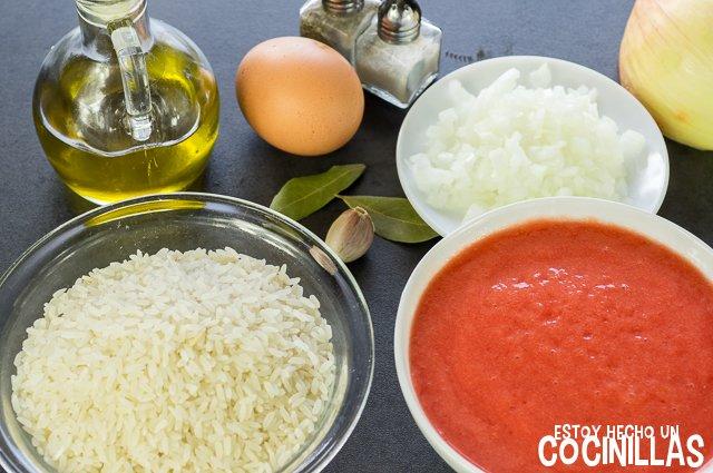 Arroz blanco con tomate (ingredientes)