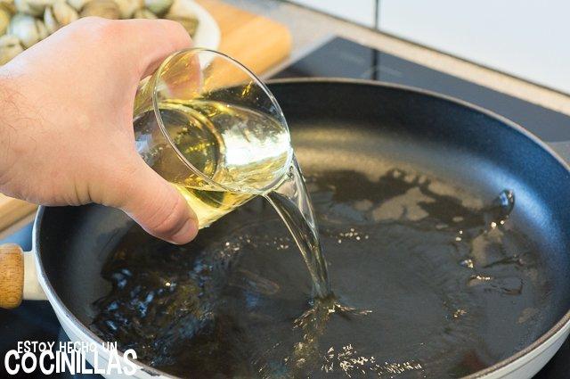 Berberechos al vapor (vino)