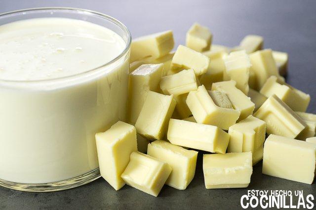 Ganache de chocolate blanco (ingredientes)