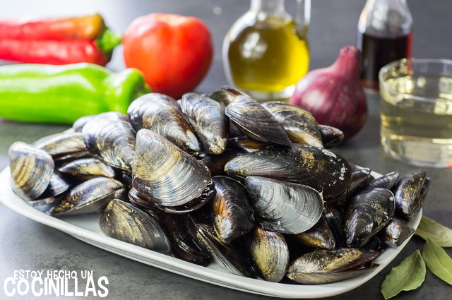 Mejillones a la vinagreta (ingredientes)