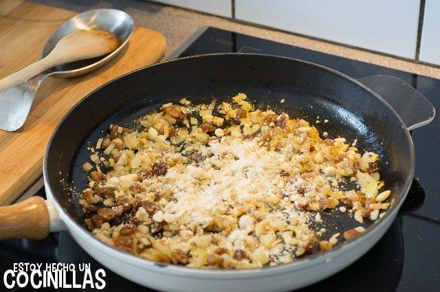 Pasta con le sarde (almendra molida)