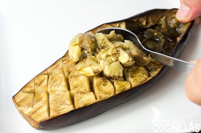 Paté de berenjena con aceitunas negras (reposovaciar las berenjenas