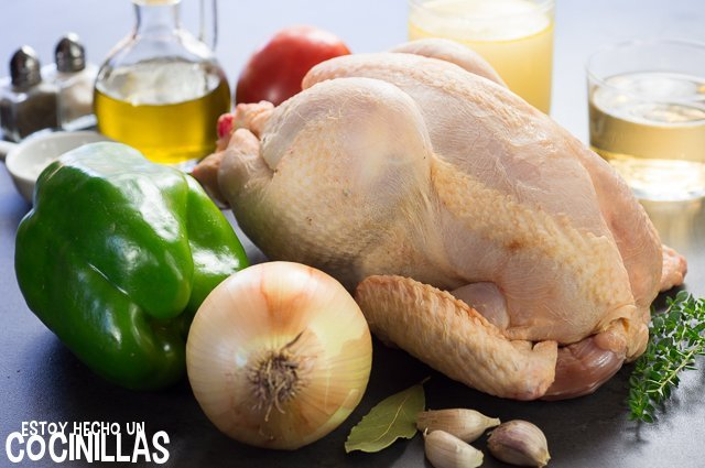 Pollo en salsa (ingredientes)