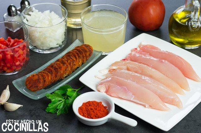 Solomillos de pollo con chorizo (ingredientes)