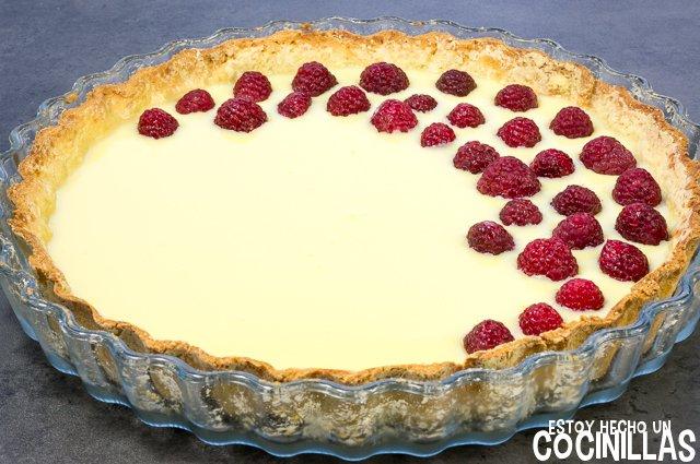Tarta de chocolate blanco y frambuesas (colocar)