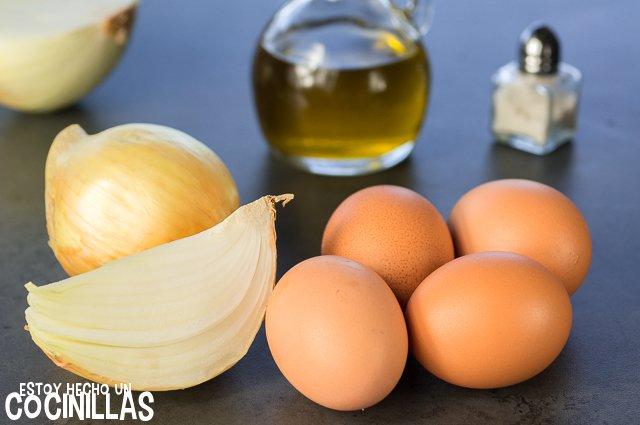 Tortilla de cebolla (ingredientes)