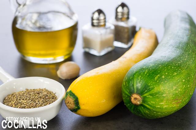 Salteado de calabacín con hierbas provenzales (ingredientes)