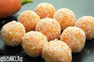 Bolitas de zanahoria y coco
