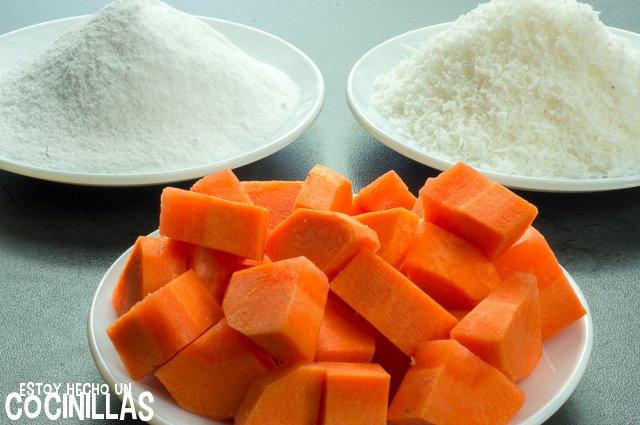 Bolitas de zanahoria y coco (ingredientes)