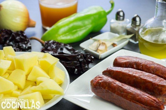 Patatas a la riojana (ingredientes)