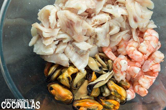 Salpicón de pescado y marisco (bol con pescado)