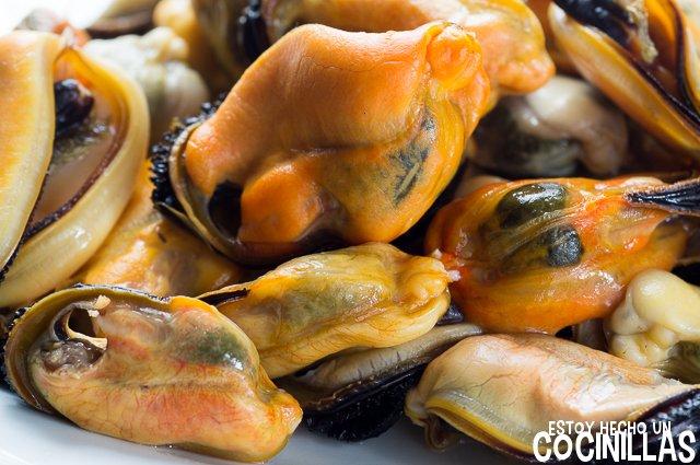 Salpicón de pescado y marisco (mejillones)