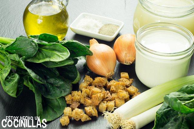 Crema de espinacas (ingredientes)