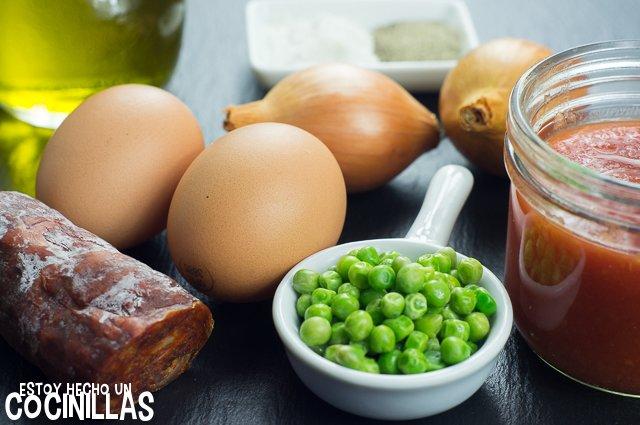 Huevos al plato con chorizo (ingredientes)