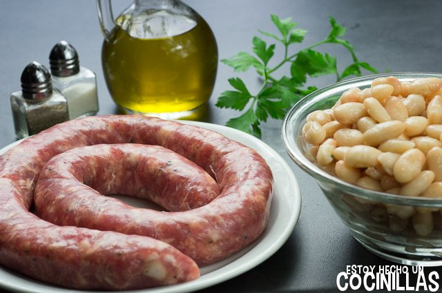 Butifarra esparracada (ingredientes)