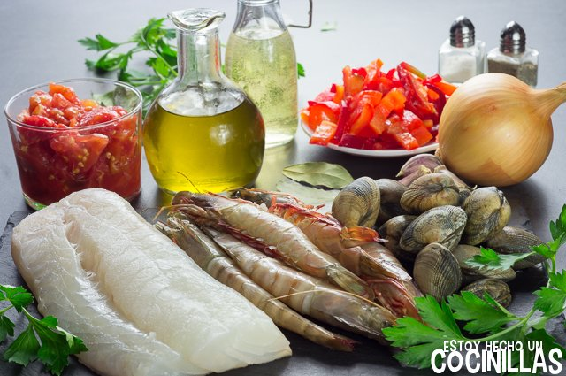 Cataplana de bacalao (ingredientes)
