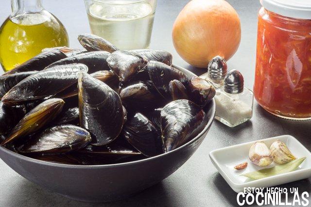 Mejillones en salsa picante (ingredientes)