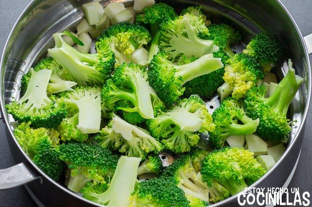 Quiche de brócoli (brócoli al vapor)