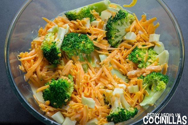 Quiche de brócoli (mezclar)