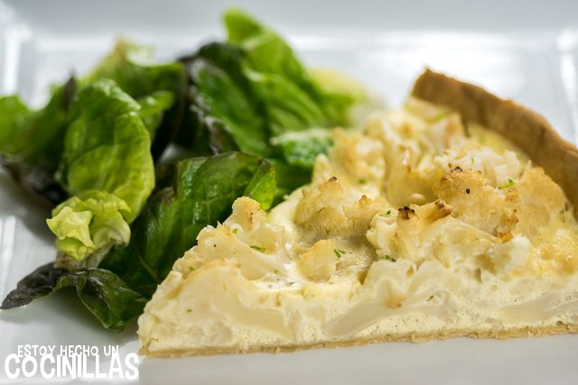 Quiche de coliflor (porcion)