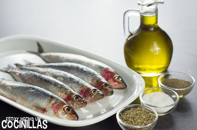 Sardinas al horno con hierbas provenzales (ingredientes)