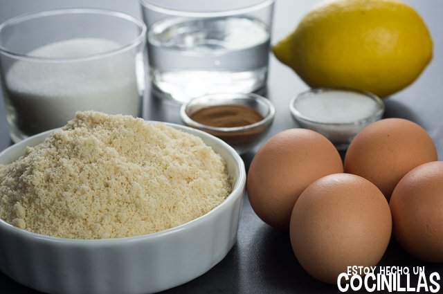 Turrón de yema tostada (ingredientes)