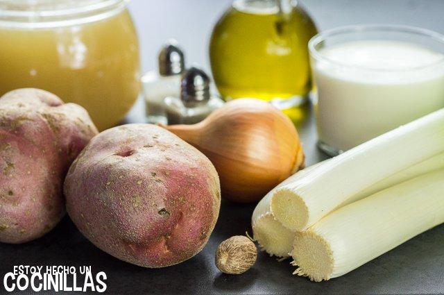 Crema de puerros (ingredientes)
