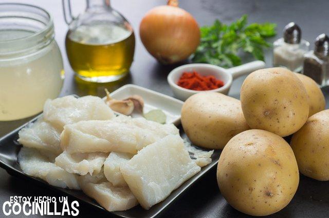 Patatas con bacalao (ingredientes)
