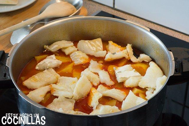 Patatas con bacalao (reincorporar el bacalao)