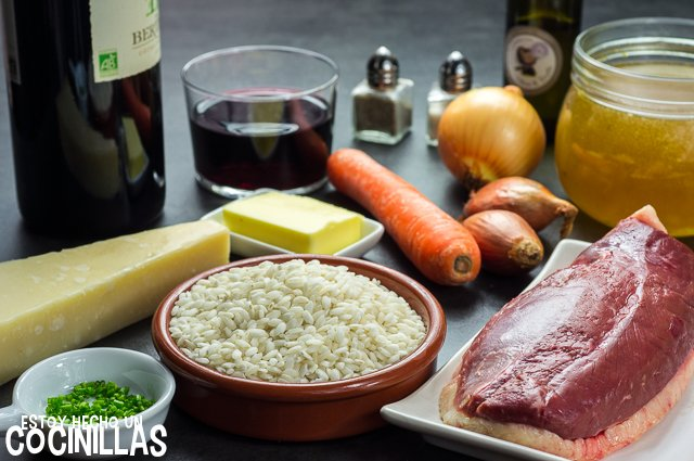 Risotto con magret de pato (ingredientes)