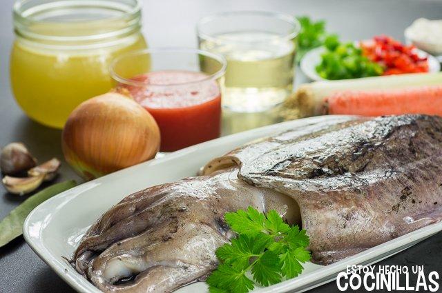 Sepia en salsa (ingredientes)