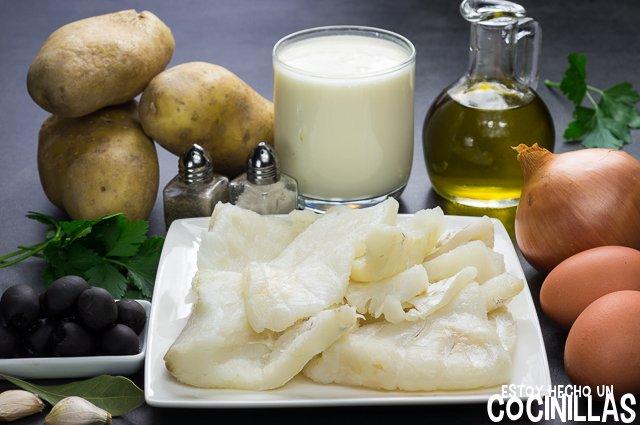 Bacalao Gomes de Sá (ingredientes)