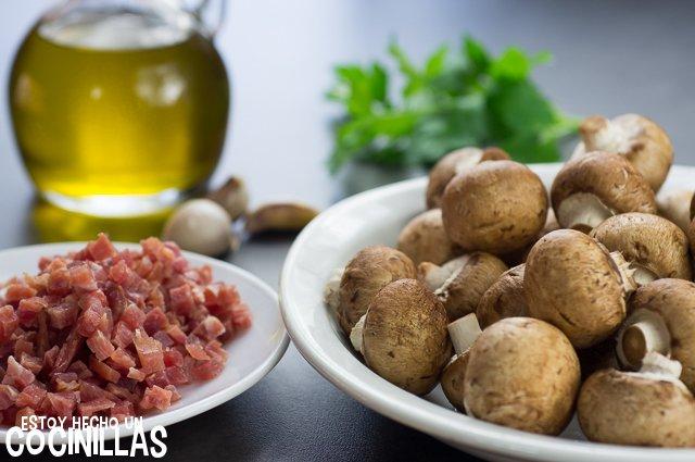 Champiñones con jamón (ingredientes)