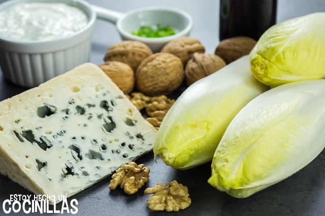 Endivias con roquefort (ingredientes)