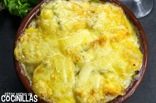 Morbiflette (patatas gratinadas con queso morbier)
