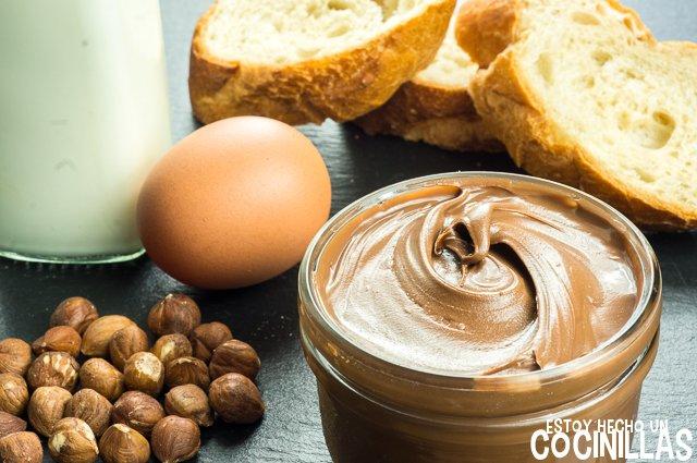 Torrijas de crema de chocolate y avellanas (ingredientes)