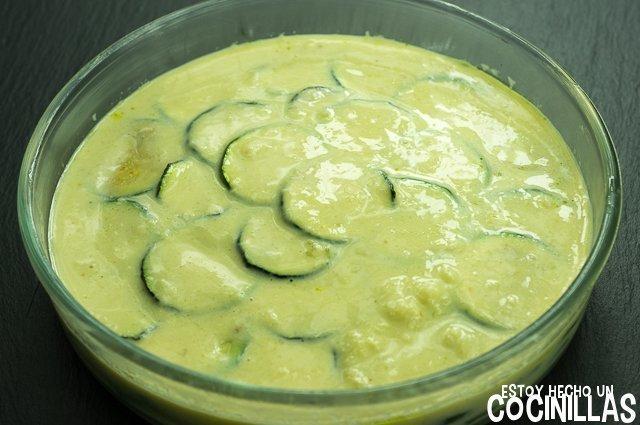 Calabacines gratinados (relleno)