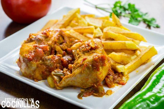 Conejo con tomate y pimientos (plato)