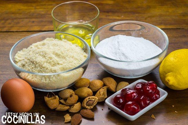 Panellets de cereza (ingredientes)