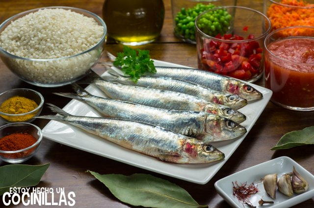 Arroz con sardinas (ingredientes)