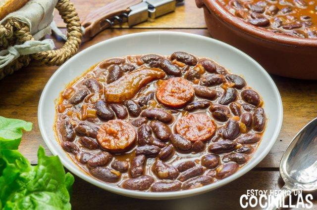 Receta De Potaje De Judías Rojas Con Chorizo